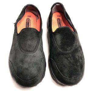 Skechers GoWalk Black Leather Slip On Shoes 9.5